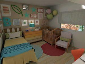 desain kamar bayi dan orang tua