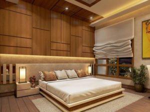 wallpaper kamar tidur elegan