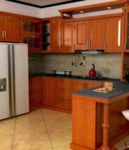 harga kitchen set kayu merbau